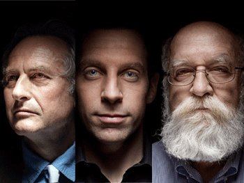 Leading atheists Richard Dawkins, Sam Harris, Daniel Dennett (the 'Three Wise Men of Atheism') and now Christopher Hitchens