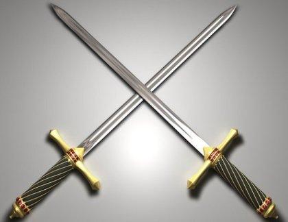Real Crossed Swords Crossed Swords Amp Crescent
